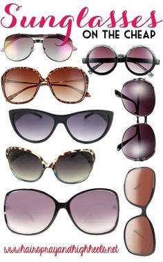 Cheap Sunglasses for Summer! #fashion #accessories