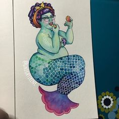 This artist proves not all mermaids are meant to be thin