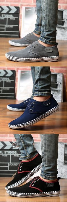 US$36.09 Big Size Men Suede Stitching Soft Sole Outdoor Sport Casual Shoes