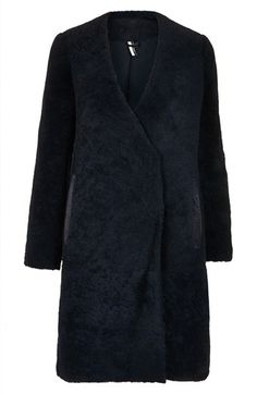 Topshop 'The Collection Starring Kate Bosworth' Genuine Shearling Coat available at #Nordstrom