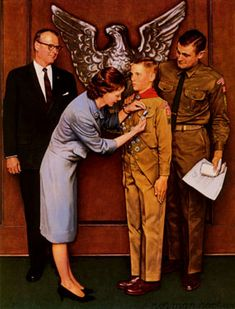 1965 - A Great Moment by Norman Rockwell