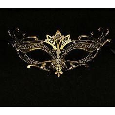 Gold lasergeschnittenes venezianische Metallmaske mit klaren Strasssteinen Tiara