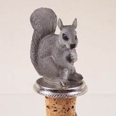 Wine Stoppers - Conversation Concepts Squirrel Gray Bottle Stopper >>> Be sure to check out this awesome product.