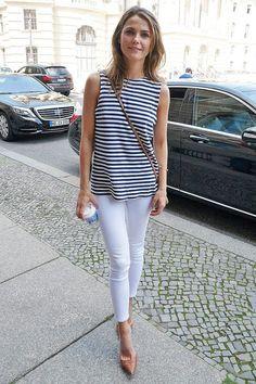 Kerri Russell, skinnies and stripes