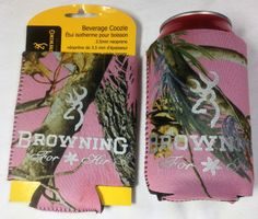 Koozie,Browning Pink Real Tree Camo Can Cooler,Can Huggie,Browning can Holder picclick.com