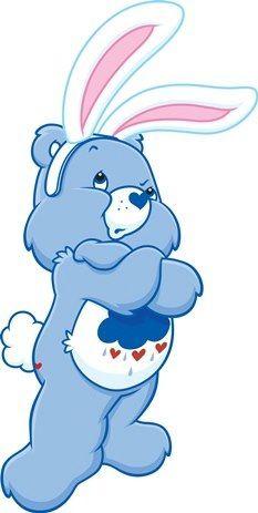 Care Bears: Easter Grumpy Bear~ haha figure grumpy bear isnt liking it too well :D
