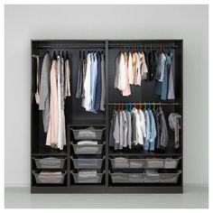 IKEA - PAX Wardrobe black-brown, Auli Ilseng