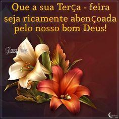 Flores e frases: FELIZ TERÇA-FEIRA...