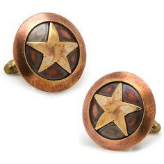 Dreadnought Workshop Bronze Star Cufflinks