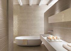 cappuccino fliesen und weiße farbe im kleinen bad   bad beige ... - Moderne Fliesen Im Bad