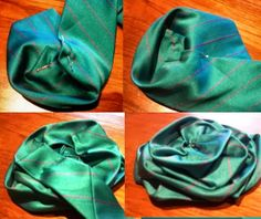Recycled Fashion: Upcycled Givenchy Necktie Flower Brooch Tutorial