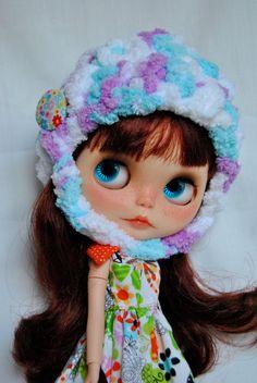 OOAK Blythe doll Spring collection Hat by blytheinwonderland, $20.00