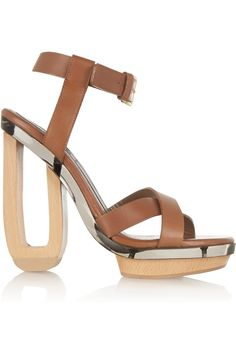 Leather platform sandals | Marni