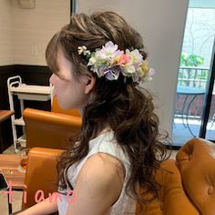 人気のシニヨンからハーフアップへ♡可愛い花嫁さまのWDパーティーヘア Crown, Wedding, Deco, Baby, Fashion, Valentines Day Weddings, Moda, Corona, Fashion Styles