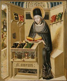 Der Heilige Augustinus, unbekannter Künstler, 15. Jahrhundert, Museu Episcopal de Vic