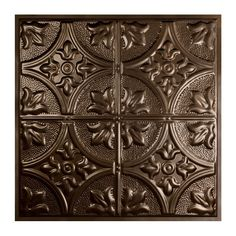 Great Lakes Tin Jamestown Bronze Burst 2-foot x 2-foot Lay-in Ceiling Tile (Carton of 5) (Assembly Required - 2' x 2'), Brown, Size 2' x 2'