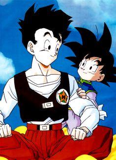 Gohan and Goten (Dragon Ball Z) (c) Toei Animation, Funimation & Sony Pictures Television Dragon Ball Gt, Dragon Ball Z Shirt, Thundercats, Akira, Manga Anime, Gohan And Goten, Manga Dragon, Gi Joe, Fanart
