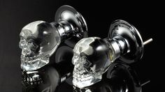 Skull Doorknobs  By Krystal Touch of NY  Add a little Addams Family-style chic to your décor with this crystal skull doorknob. Made of hefty glass for a solid feel, it's a sophisticated and subtly subversive take on the traditional crystal styles found in Victorian houses.  $185