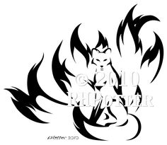 Kitsune Calligraphy by *RHPotter on deviantART
