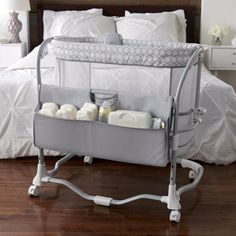 Keep your baby close and comfortable with the Dream & Grow Bedside Bassinet from Ingenuity. Made to cradle your little one safely within reach, right at your bedside with a smart design that is versatile enough for your baby's use for up to a year.
