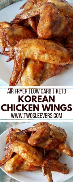 Tangy, sweet, spicy air fryer chicken wings with Gochujang make a delightful easy keto appetizer or meal. Make these in your air fryeror oven and enjoy the finger-licking goodness.