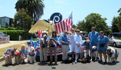 UCLA PAC Volunteers are ready for the 4th of July parade in Pacific Palisades