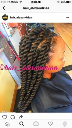 African Braids Hairstyles Pictures, Weave Ponytail Hairstyles, Twist Hairstyles, Latest Hairstyles, Jumbo Twists, Jumbo Senegalese Twists, Curly Hair Styles, Natural Hair Styles, Perfect Hair Day