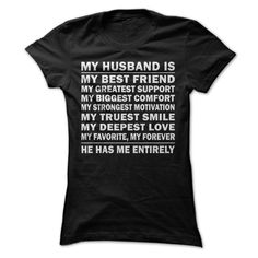My Husband is My Best Friend Perfect T shirt Gift for Wife T-Shirts, Hoodies. ADD TO CART ==► Funny Tee Shirts