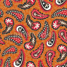 Classy Paisley Design by Nicolle Pérez available for download as a vector file on patterndesigns.com Vector Pattern, Pattern Design, Vector Design, Vector Art, Vektor Muster, Paisley Design, Repeating Patterns, Background Patterns, Surface Design