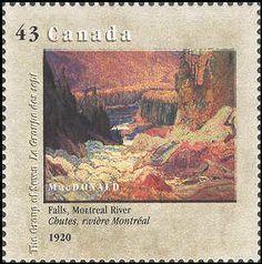 Canada 1995. Group of Seven. Realism/Naturalism. J.E.H. McDonald. Falls, Montreal River.