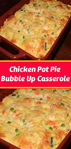 Chicken Pot Pie Bubble Up Casserole – Page 2 – Cook Guide Turkey Recipes, Chicken Recipes, Dinner Recipes, Dinner Ideas, Meal Ideas, Food Ideas, Cocktail Recipes, Supper Ideas, Dinner Options