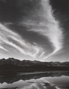 Sierra Nevada, Winter Evening, from the Owens Valley, California (1962)