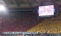 AS Roma-Bayern Monaco 1-7. Pessimo risultato, ma nonostante tutto grandissimo tifo, scambio di sciarpe tra sostenitori di Roma e Bayern e a fine partita i romanisti hanno applaudito i loro giocatori!