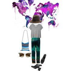 Travel wear by ashbar on Polyvore featuring Monki, Lanvin, Isabel Marant, rag & bone and Prada