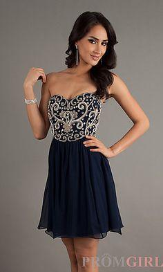Short Strapless Sweetheart Homecoming Dress