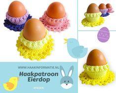 Een gratis Nederlands haakpatroon van een eierdop. Wil jij deze eierdop ook haken? Het patroon vind je op Haakinformatie - Haakpatroon Eierdop.