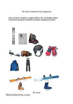 skiing - vocabulary