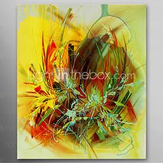 iarts®hand óleo pintada pintura strawhat abstracta marco estirado listo para colgar - EUR €45.07