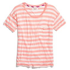 Peach stripes. Slideshow Tee in Stripe from Madewell.