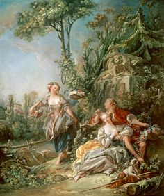 François Boucher - Lovers in a Park