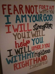 Hand Painted Subway Style Scripture Art Isaiah by WigglesGiggles, $40.00