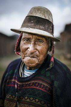 Portrait d'un homme en Bolivie