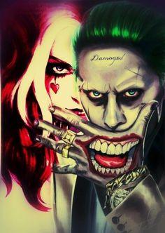 king and Queen of Gotam City - Harley Quinn Tattoo, Harley Quinn Et Le Joker, Harley And Joker Love, Harley Tattoos, Harley Quinn Drawing, Harley Quinn Cosplay, Joker Batman, Joker Art, Joker Images