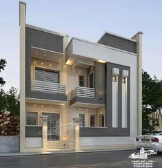 Amazing House Design Ideas For 2020 - Engineering Discoveries Modern Exterior House Designs, Modern Villa Design, Unique House Design, House Front Design, Cool House Designs, 2bhk House Plan, Model House Plan, Home Stairs Design, Bungalow House Design