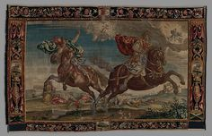 The Destruction of the Children of Niobe from a set of The Horses Designer: Francis Clein Maker: Probably made at Mortlake Tapestry Manufactory (British, 1619–1703) Date: ca. 1650–70 Culture: British, probably Mortlake.