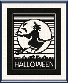 Halloween Witch - Halloween cross stitch pattern.