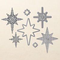 Stampin' Up! Thinlits Dies - Starlight (matching stamps)