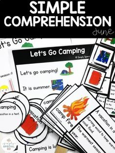This is a simple comprehension unit for the month of June for your PreK, Kindergarten, 1st, 2nd, 3rd, 4th, 5th, 6th, 7th, and 8th grade special education students. Each unit contains four stories & five activities. Practice fluency, vocabulary, sequencing, and review with clip cards. It comes with a note to parents and data tracking sheet. Great for English language arts and speech therapy. Great for centers. (preschool, kinder, second, third, fourth, fifth, sixth graders, EFL, ESL, ELD…