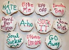 Anti Valentines Day Cupcakes Sayings...