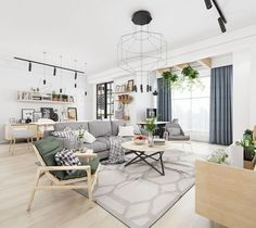 Awesome Scandinavian Style Interior Apartment – Home Design Scandinavian Style, Scandinavian Home Interiors, Scandinavian Furniture, Nordic Style, Living Room Furniture, Living Room Decor, White Furniture, Rustic Furniture, Modern Furniture